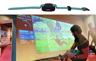 Sensors help make exercise more fun
