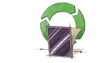 Better recycling of spent solar panels