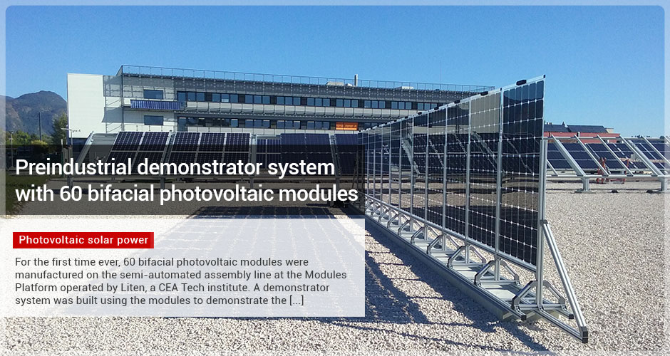 Preindustrial demonstrator system with 60 bifacial photovoltaic modules