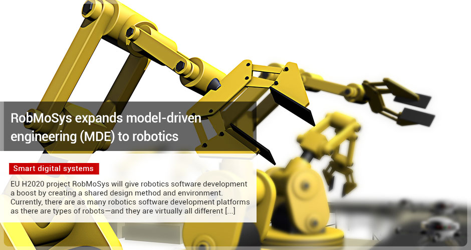 RobMoSys expands model-driven engineering (MDE) to robotics