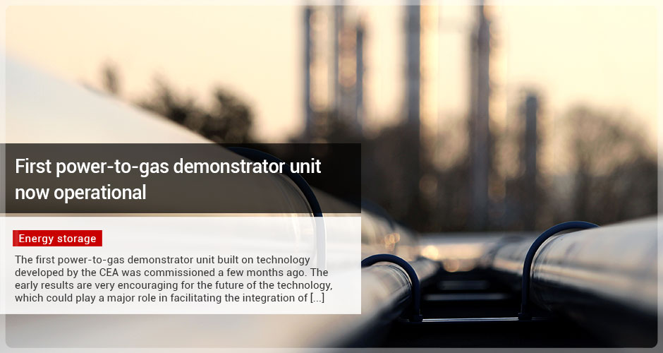 First power-to-gas demonstrator unit now operational