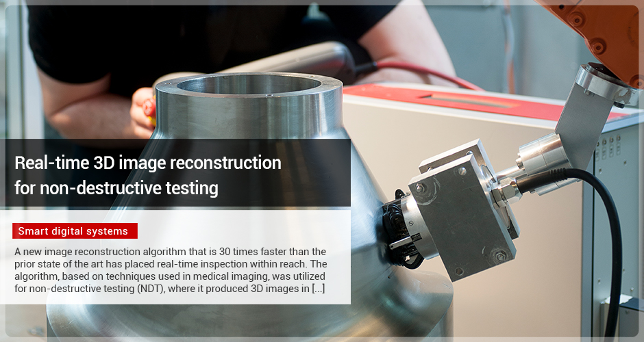 Real-time 3D image reconstruction for non-destructive testing