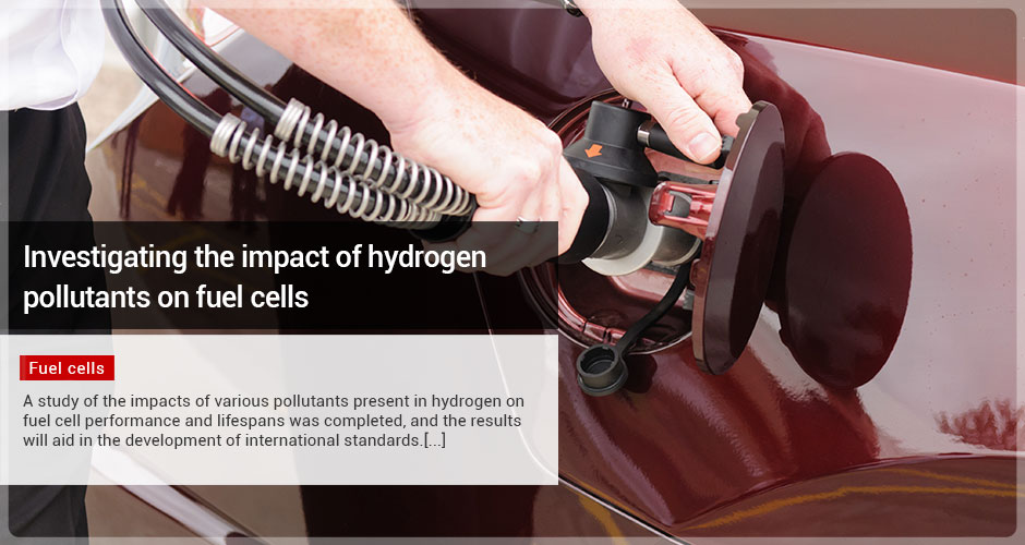 Investigating the impact of hydrogen pollutants on fuel cells