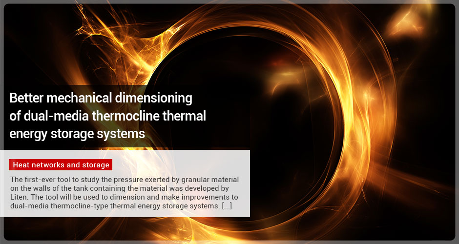 Better mechanical dimensioning of dual-media thermocline thermal energy storage systems
