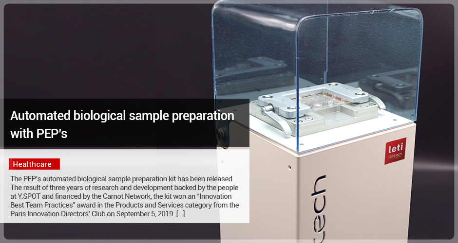 Automated biological sample preparation with PEP's